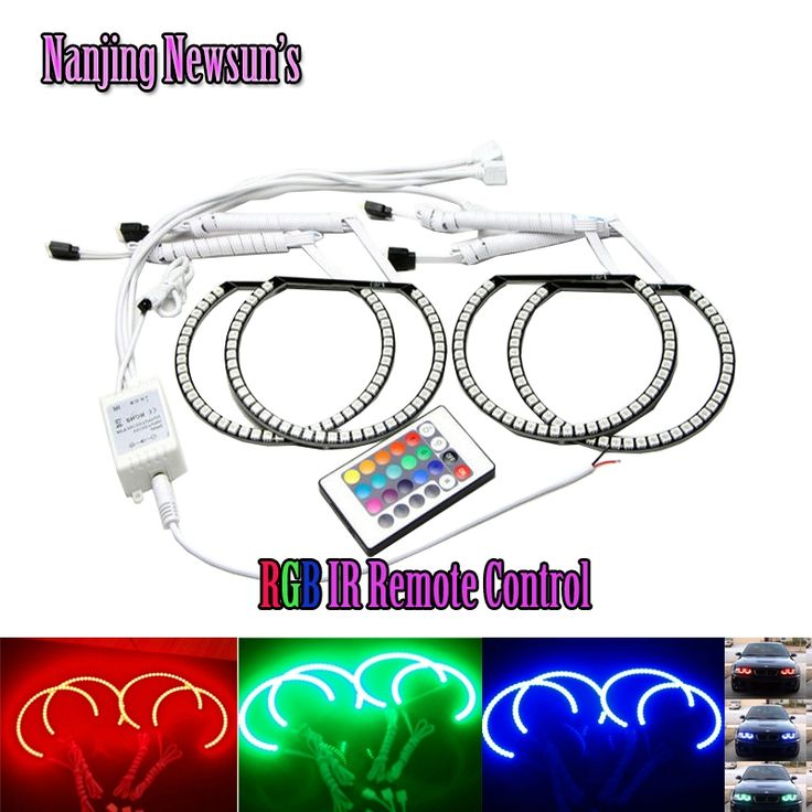 37.79$  Watch here - http://aliw4p.shopchina.info/go.php?t=1853054395 - 16 Colors Remote 3 Mode LED Angel Eyes SMD 5050 Halo Rings kit for BMW E46 Non Projector Headlights, RGB colorful led angel eyes 37.79$ #aliexpress