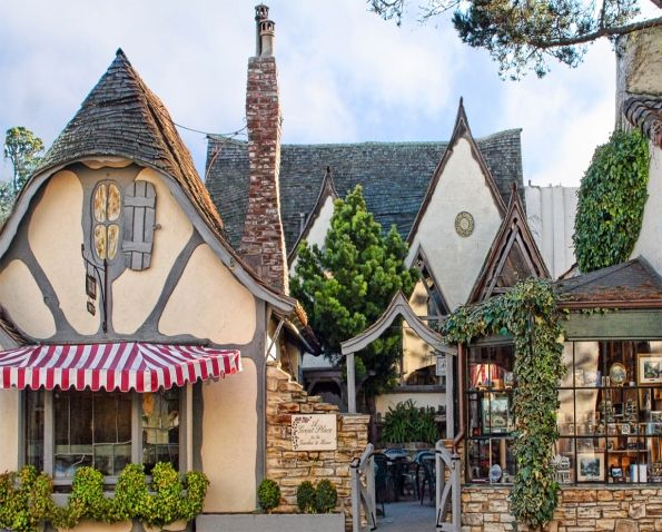 belongs to talesfromcarmel.comTeas Room, Carmel California, High Teas, Cottages, Places, Hugh Comstock, Tuck Boxes, Fairies Tales, The Sea
