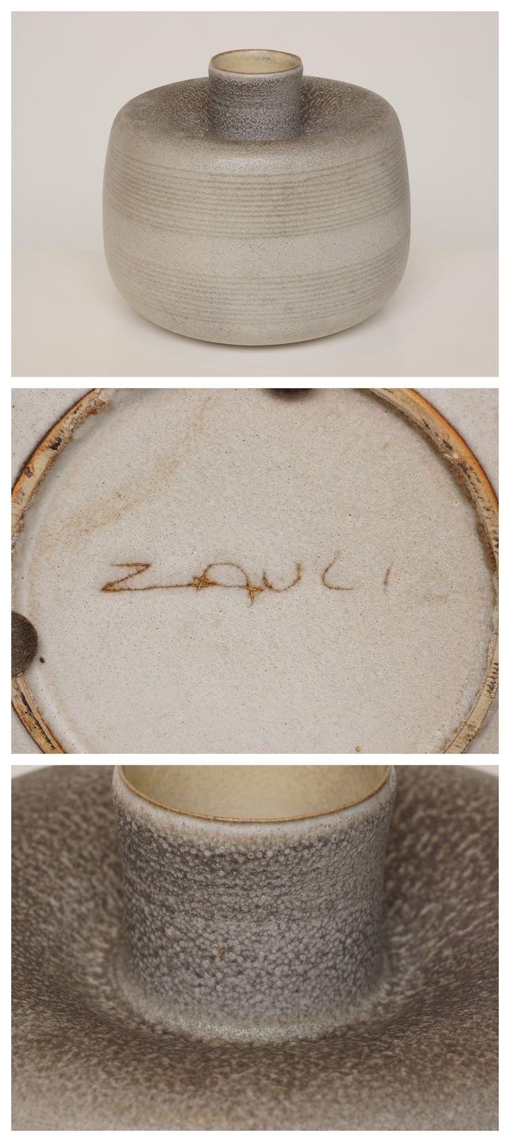 Carlo Zauli Ceramic Vase, signed, Italian, c.1960. _ #1960s #CarloZauli