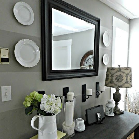 Custom mirror for entryway foyer table entry organizer entrance furniture