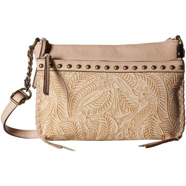 Jessica Simpson Bassie Crossbody (Blush Flower Tooled) Cross Body... (105 CAD) ❤ liked on Polyvore featuring bags, handbags, shoulder bags, purse shoulder bag, studded crossbody purse, jessica simpson purses, purse crossbody and jessica simpson crossbody