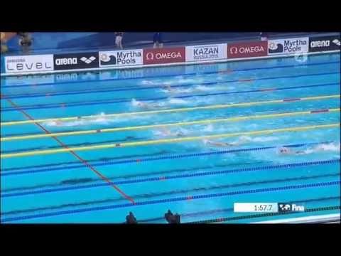 Katinka Hosszú 200m IM (World Record) - Wins Gold Medal | Kazan World Championhip 2015 - YouTube