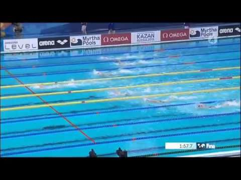 Katinka Hosszú 200m IM (World Record) - Wins Gold Medal | Kazan World Championhip 2015 - YouTube