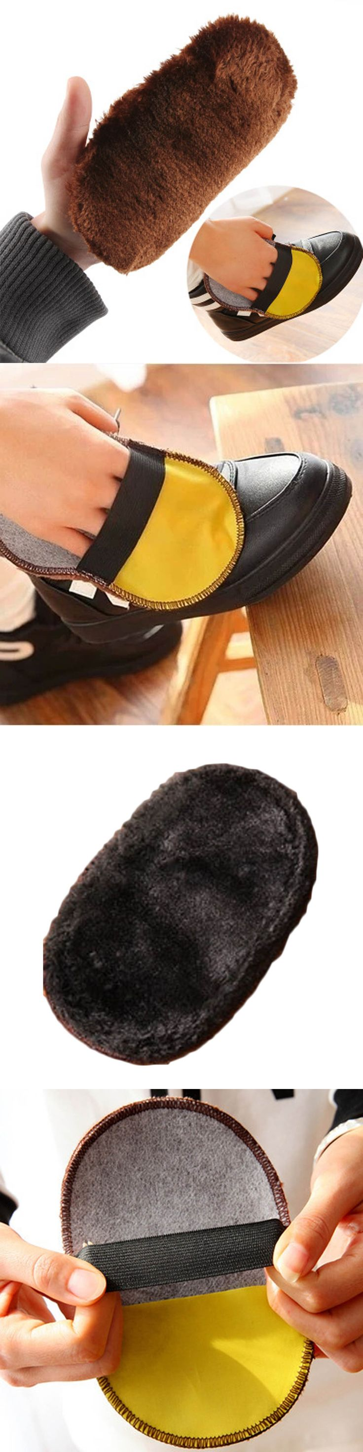 1Pcs Hot Shoe Care Brush Soft Wool Plush Shoe Gloves Wipe Shoes Mitt Suede Shoes Cleaner