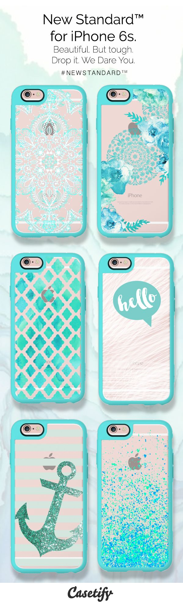 Everything is better teal. Tap to  pre-order this #NewStandard™ phonecases-http://www.casetify.com/artworks/Emcijbe6GS