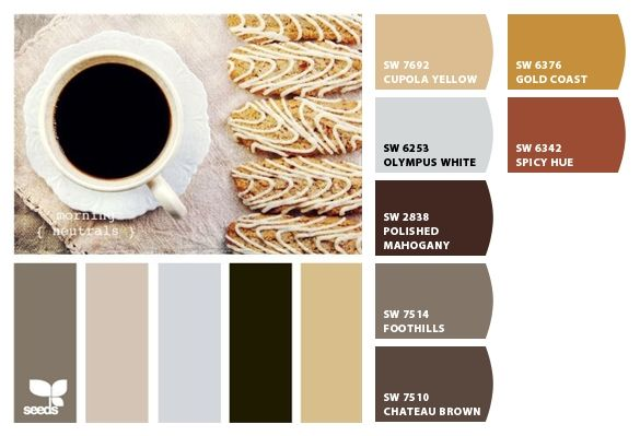 Sherwin Williams Chips Applied To A Design Seeds Palette