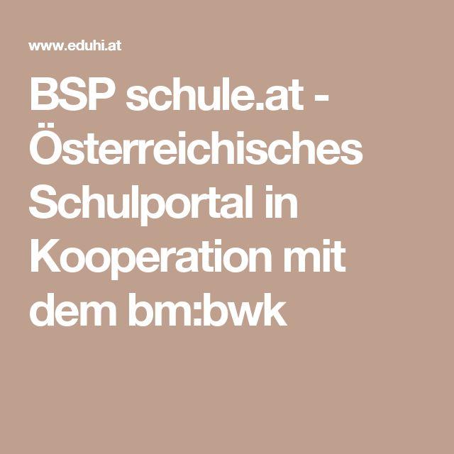 BSP schule.at - Österreichisches Schulportal in Kooperation mit dem bm:bwk