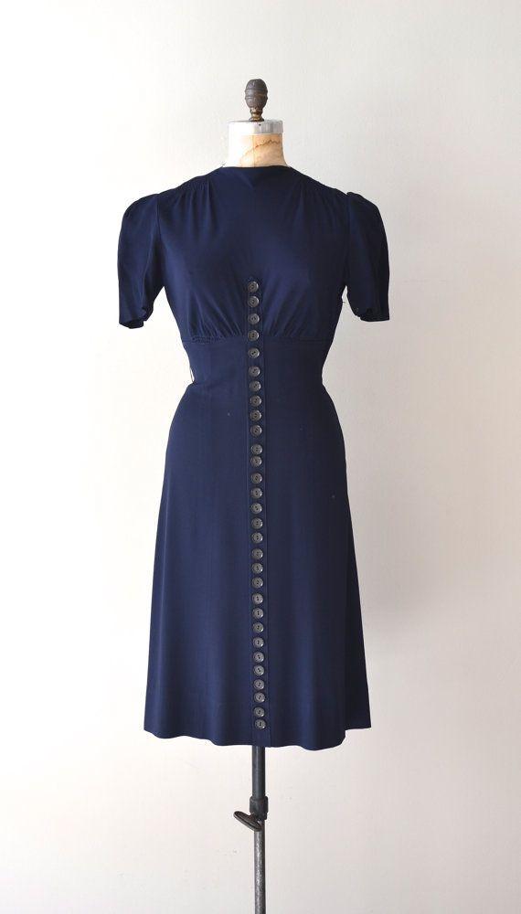 vintage 1930s dress | Buttoned Up dress