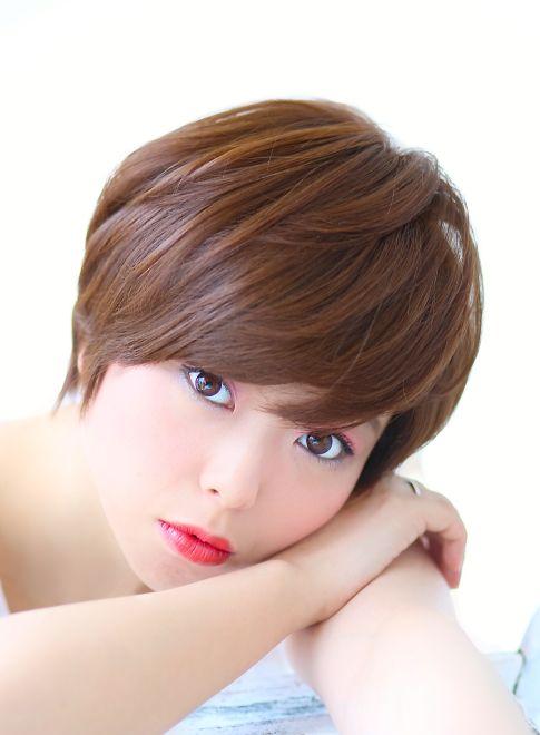 おさまりのいい毛束感のある小顔ショート 【COIFF1RST 原宿】 http://beautynavi.woman.excite.co.jp/salon/25237?pint ≪ #shorthair #shortstyle #shorthairstyle #hairstyle・ショート・ヘアスタイル・髪形・髪型≫
