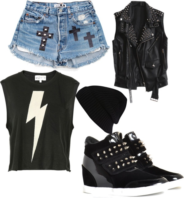 """biker Girl"" by nerdswag-1 ❤ liked on Polyvore"