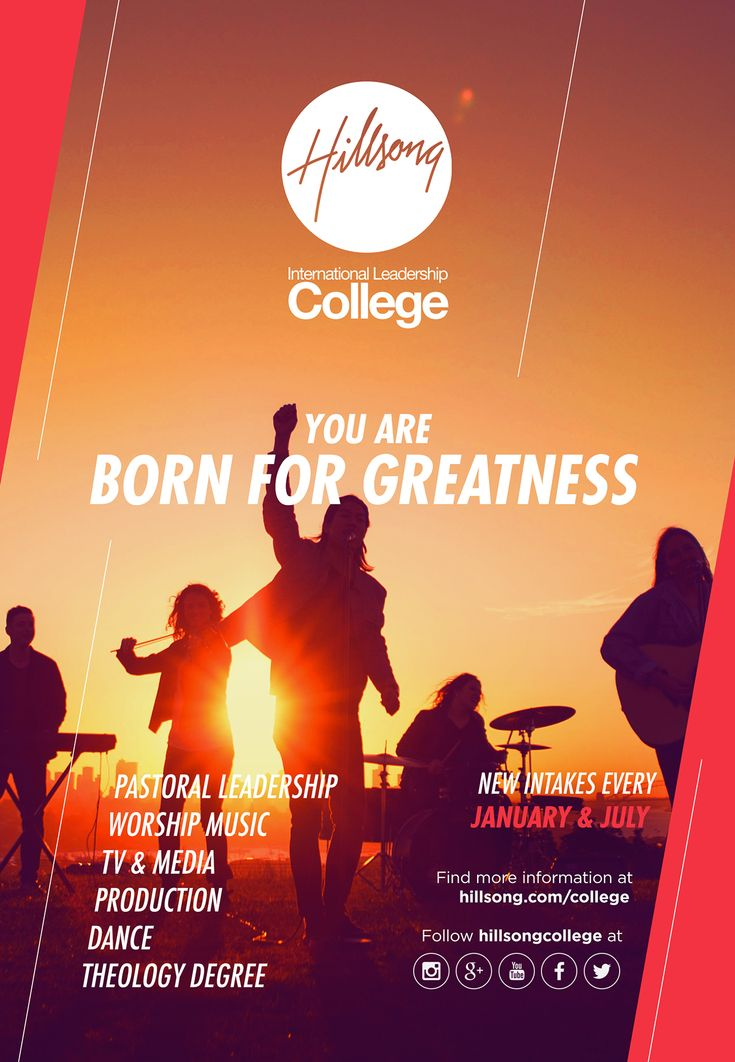 Campaign 'Born For Greatness' - Hillsong College on Behance
