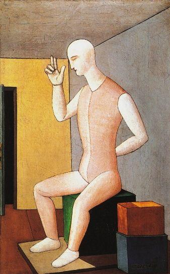 Carlo Carrà - The idol hermaphrodite.