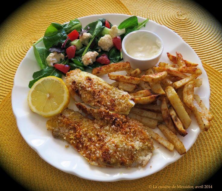 La cuisine de Messidor: Filets de tilapia panés + Frites santé au four