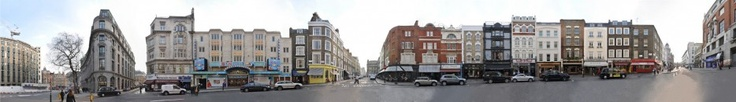 London West End, a street panorama of the Catherine Street near covent garden and the strand.