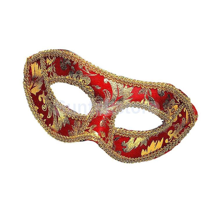Venetian Masquerade Fancy Dress Ball Eye Mask Party Halloween Costume Red