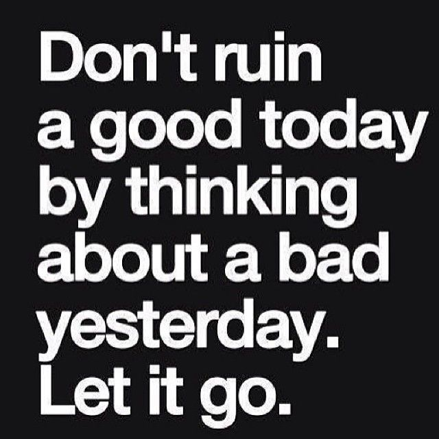 """@katyhearnfit's photo: """"Let. It. Go. Did you enjoy an extra dessert or a little too much pasta yesterday? It's a new day.. Shake it off. Stressing over it will only raise your cortisol levels causing a slowed metabolism & a long list of other negatives. Don't stress, just let it go and move on! ✌️"""""""