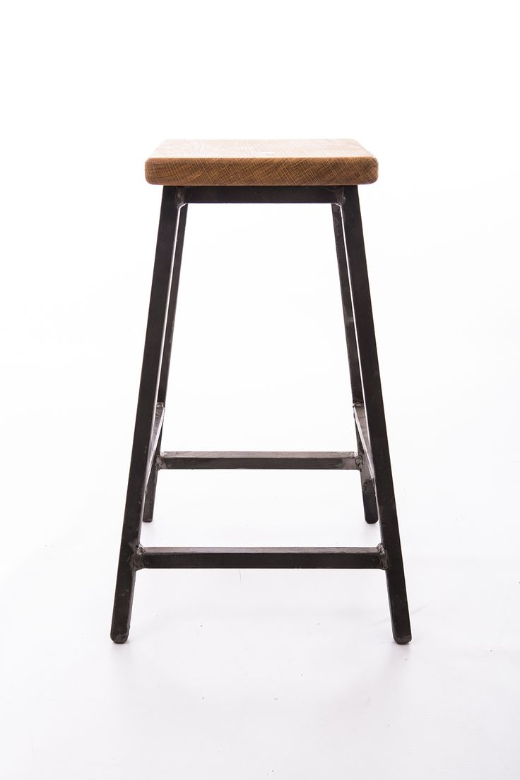 Low bar stool industrial style made with