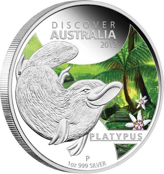 Discover Australia 2013 Platypus,1 oz Silver Coin