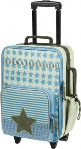 Lässig Kinder Trolley Reisetasche Koffer 4Kids Starlight oliv blau