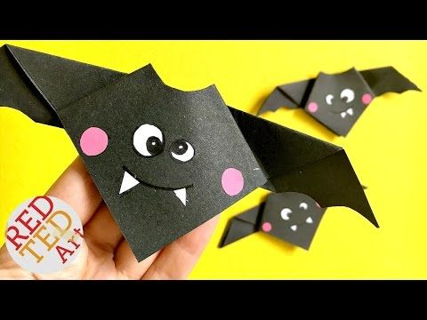 Easy Origami Bat - Red Ted Art's Blog