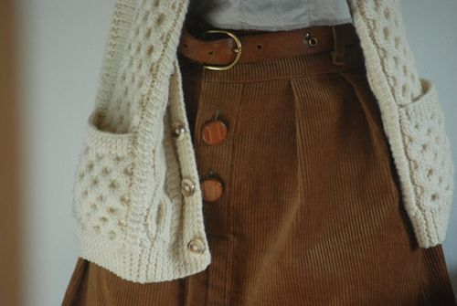 vintage-y skirt and sweater