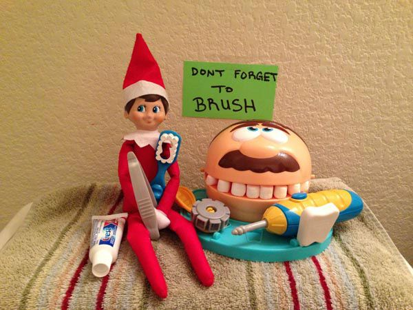 Have the Elf On The Shelf visit each night in Dec to make sure everyone is nice :)