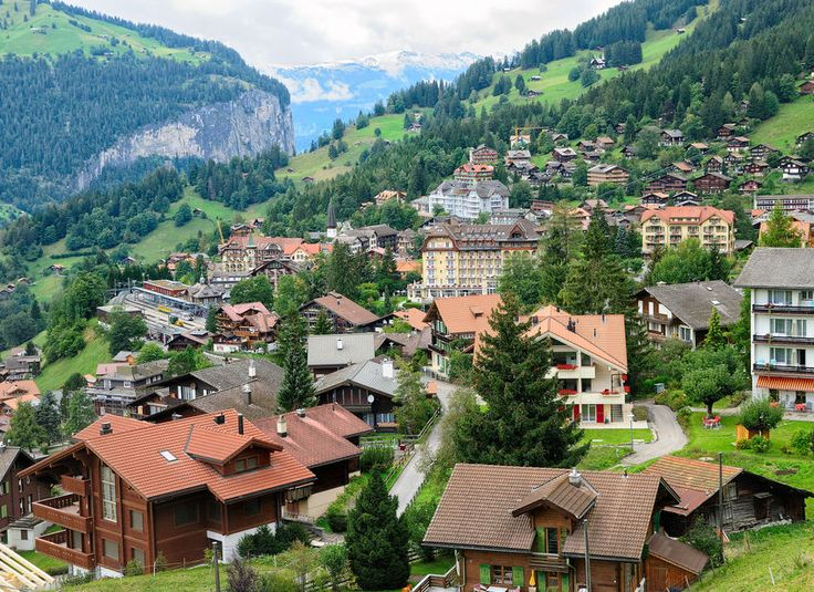 Wengen Wengen, Switzerland mountain mountain village mountainous landforms Town mountain range Village house City bird's eye view residential area suburb neighbourhood hill station mount scenery tree sky alps rural area hill Nature home plant aerial photography hillside landscape roof elevation lush