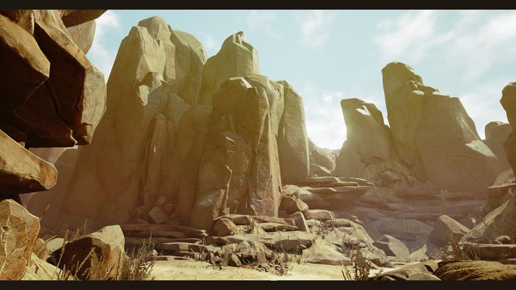 [UE4] Arid Desert Environment - Polycount Forum