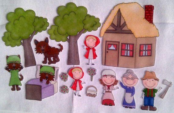 Little Red Riding Hood Felt Board Story Set.  via Etsy.