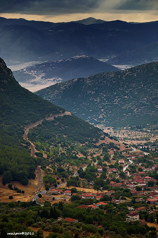 This is my Greece | Kandila village and mountains from Arkadia prefecture in Peloponnese