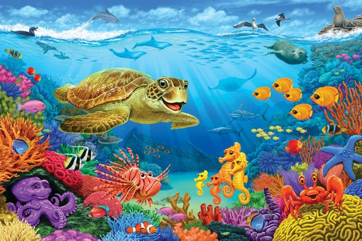 Ocean Reef Floor Puzzle Full Of Animated Ocean Critters