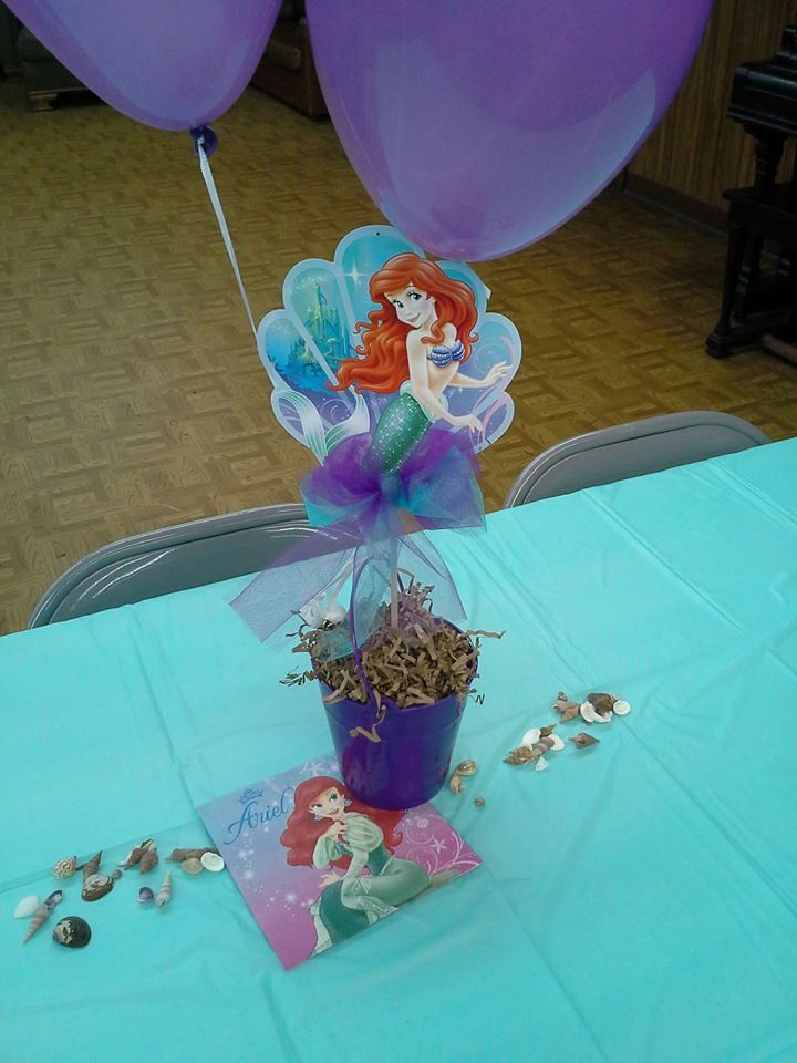 25 best ideas about little mermaid centerpieces on for Ariel decoration party