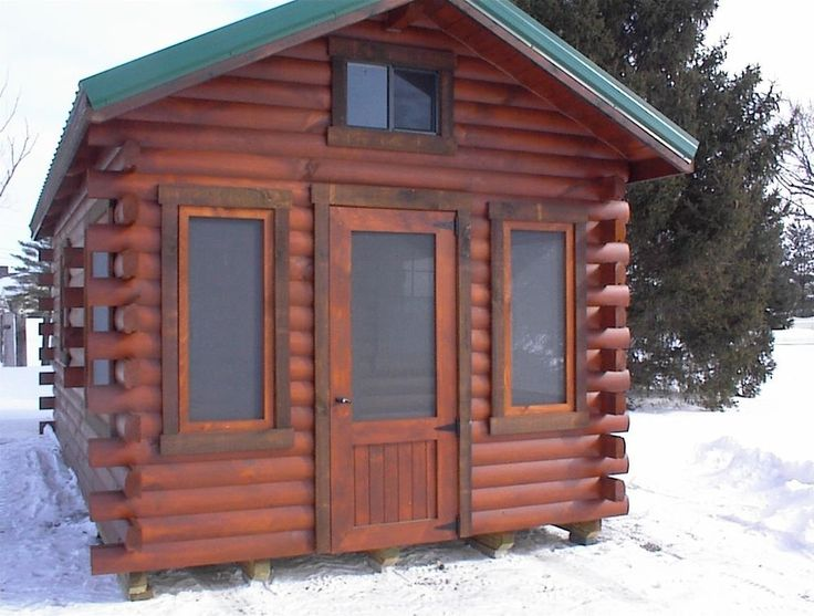 Amish built hunter xh2 log cabin solid pine cedar for Amish home construction