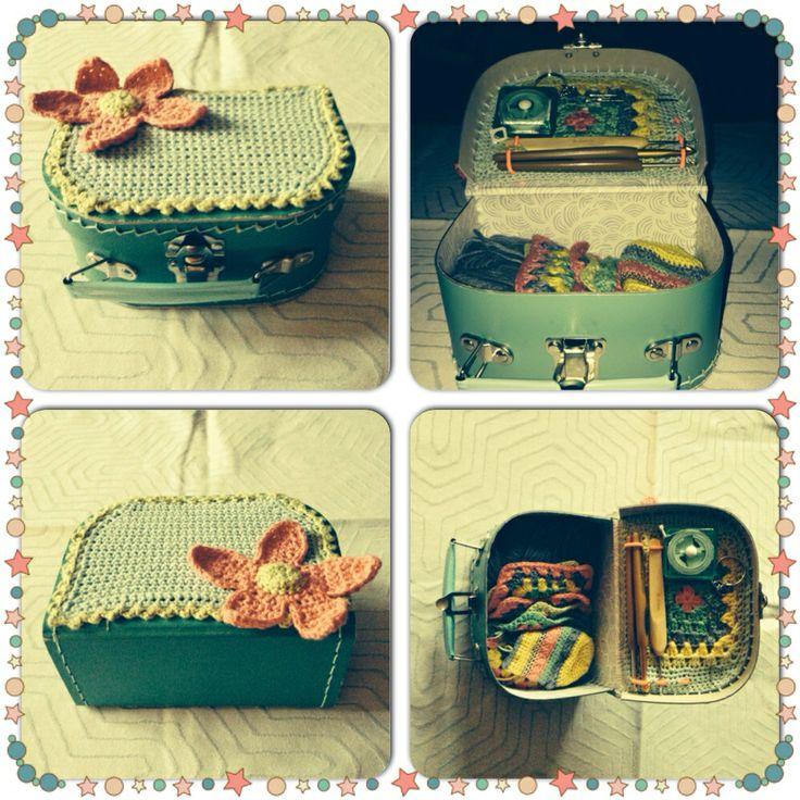 DIY crochet storage/suitcase Suitcase from 'Søstrene Grene'