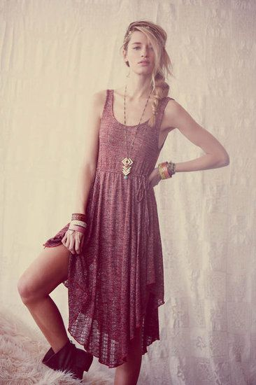 Modern Hippie Free People Festival April 2012  Starry Night Dress Concho Ring Wrap Bracelet
