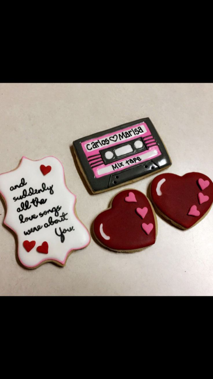 Mixtape Valentine's Day cookies