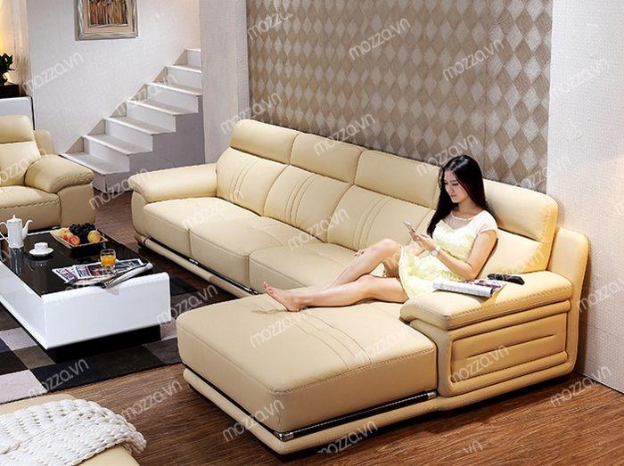 Mẫu ghế sofa cao cấp bằng da đẹp cao cấp sang trọng giá rẻ cho phòng khách ở tại Hà Nội