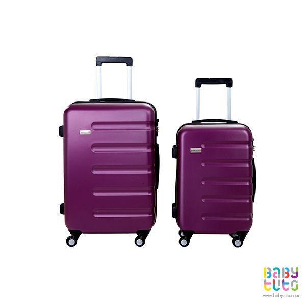Maletas rígidas púrpura. 2 unidades, $139.990 (precio referencial). Marca Swiss Bagss: http://bbt.to/1Fx856X