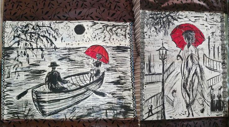 Рисунки на книжных страницах