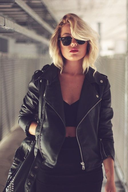 Ideas: Leather pencil skirt with black sweater, tights, Aldo black leather pointed toe booties.