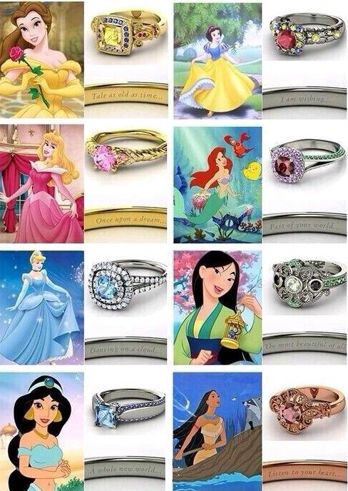 Disney princesses engagement rings!