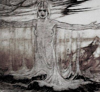 Ran är havsdjupens gudinna. Hon fångar in drunknade personer med sitt nät och håller dem i sina salar på havets botten. Ran har nio döttrar, vilka alla har namn efter olika slags vattenvågor.