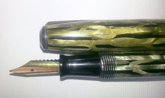 Wearever antique fountain pen marbled special by VintageJitterbug