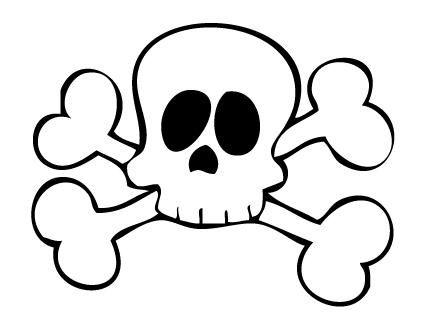Disfraz de pirata express: calavera