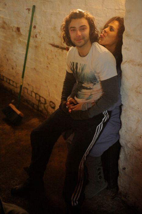Aiden Turner & Lenora Crichlow goofing around. I miss these actors. Annie & Mitchell OTP. Being Human UK