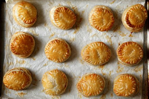 French Onion Pastry Puffs Recipe Appetizers with yellow onion, unsalted butter, olive oil, sea salt, fresh thyme leaves, cracked black pepper, granulated sugar, beef broth, puff pastry, large eggs, whole grain mustard, gruyere cheese
