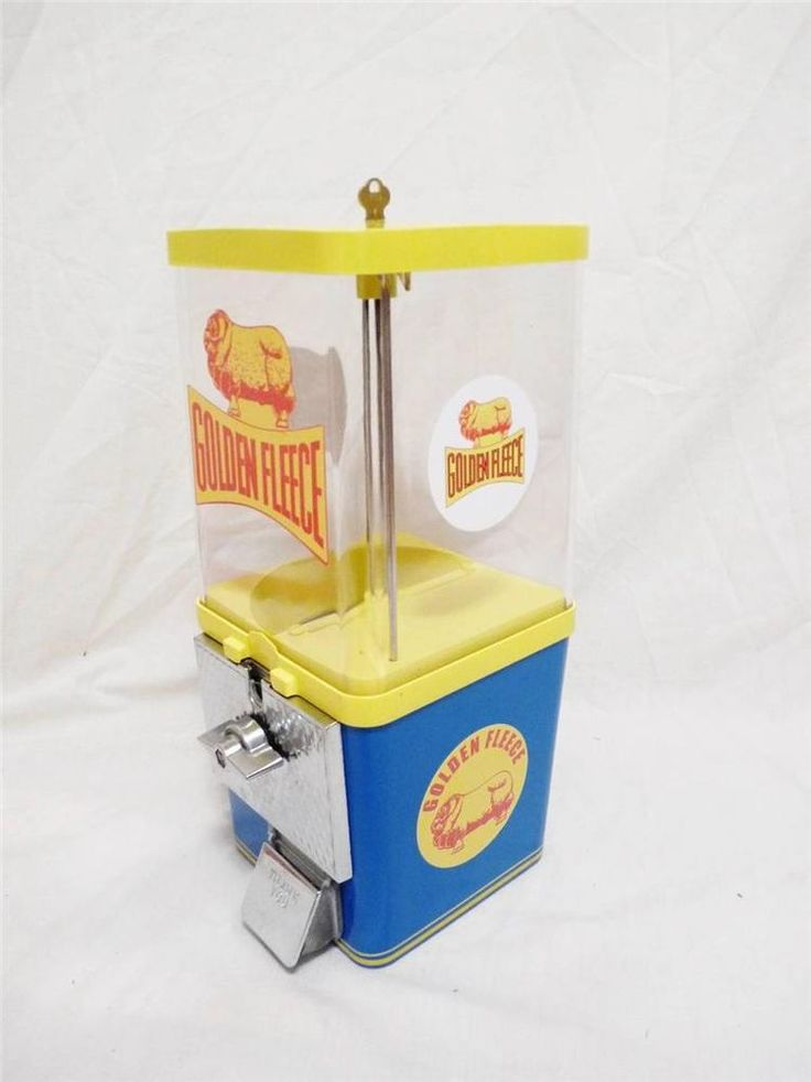 vintage gumball machine GOLDEN FLEECE Australia vintage coin operated machine #Komet