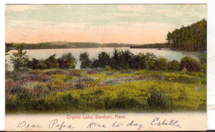 1906 Postmarked Postcard Crystal Lake Gardner Massachusetts MA