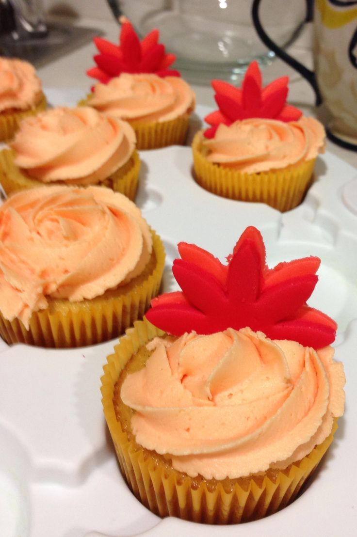 Fall/Thanksgiving cupcakes. These are pumpkin flavor for the pumpkin lovers out there! These were a huge hit!