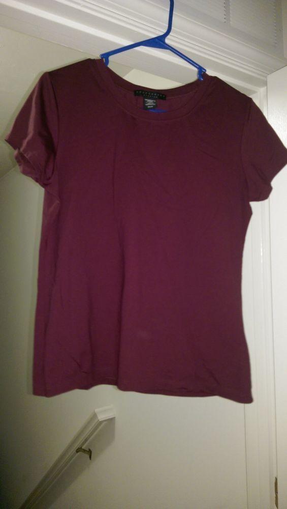Apostrophe Woman's Purple Shirt Size M #Apostrophe #Blouse #Casual